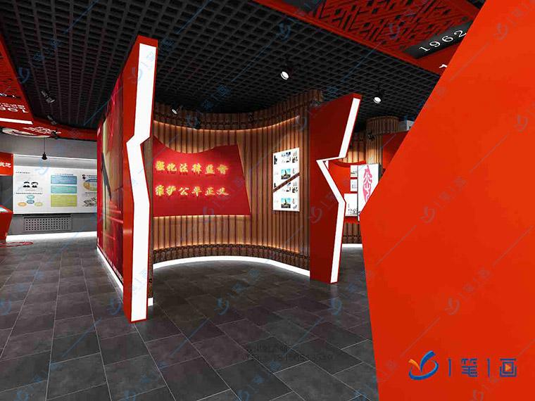 多媒体党建展厅设计公司哪家好,进行设计效果图和策划方案