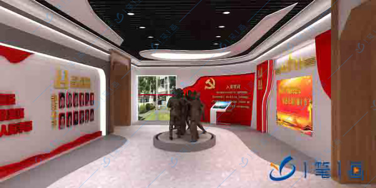 廉政警示教育基地设计,反腐倡廉党文化馆设计