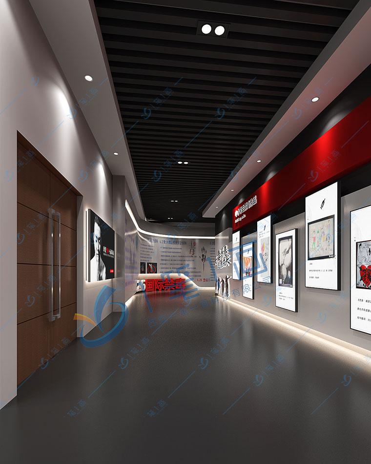 禁毒教育馆设计 禁毒展厅设计方案 毒品预防基地效果图