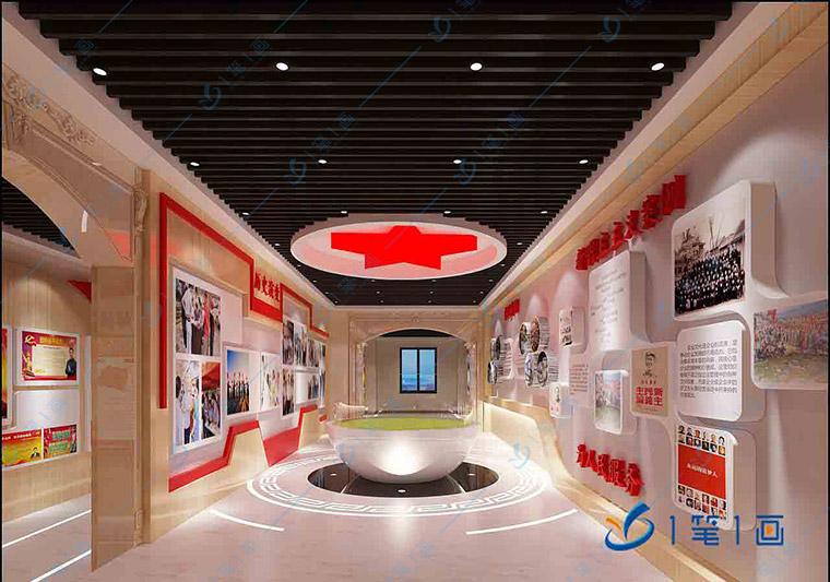 红色文化展馆设计平面图