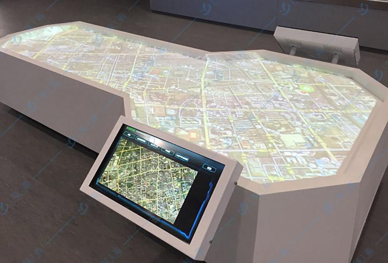 多媒体系统投影互动沙盘模型