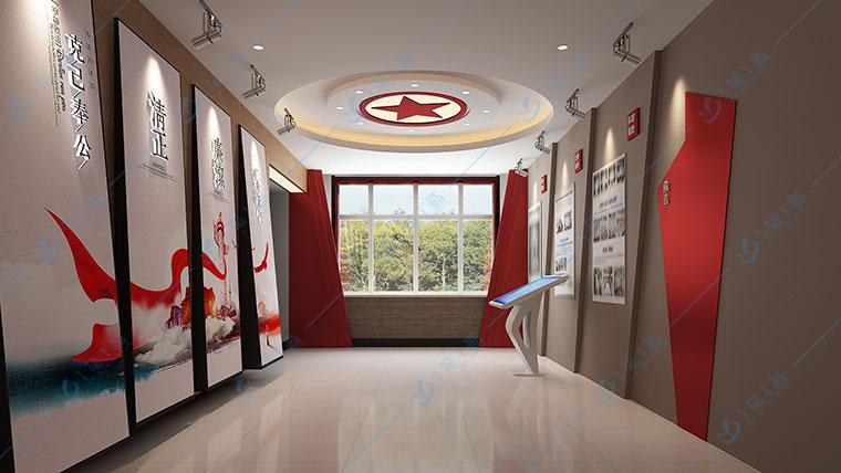 多媒体党建展厅平面设计,党风廉政警示教育基地,廉政反腐警示馆