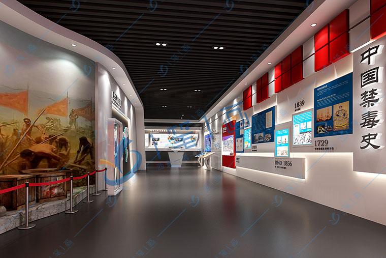 禁毒展馆设计方案中采光照明部分