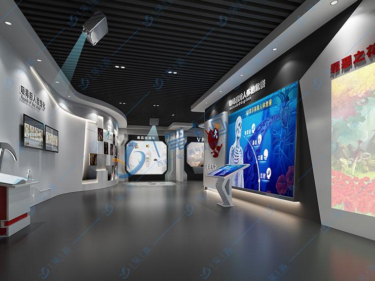 校园禁毒教育展厅平面设计,多媒体毒品预防宣传教育基地