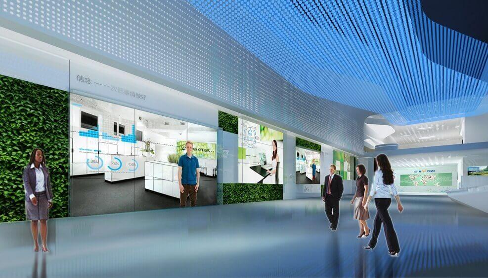 多媒体企业展厅装修设计建设的流程-西安一笔一画